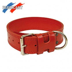 Collier cousu double rouge